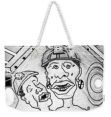 Underground Mine Workers In South Africa Weekender Tote Bag