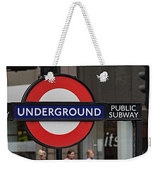 Underground Sign London Weekender Tote Bag