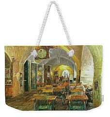 Underneath The Arches - Street Cafe, Prague Weekender Tote Bag
