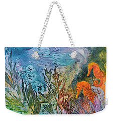 Undersea Garden Weekender Tote Bag by Nancy Jolley