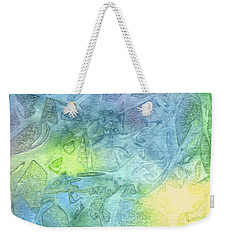 Weekender Tote Bag featuring the painting Undersea Luminescence by Kristen Fox
