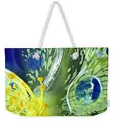 Underwater Flower Abstraction 1 Weekender Tote Bag by Lorella Schoales