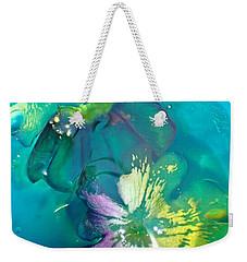 Underwater Flower Abstraction 3 Weekender Tote Bag by Lorella Schoales