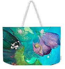 Underwater Flower Abstraction 4 Weekender Tote Bag by Lorella Schoales