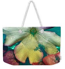 Underwater Flower Abstraction 5 Weekender Tote Bag by Lorella Schoales