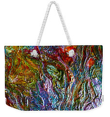 Weekender Tote Bag featuring the painting Underwater Seascape by Claire Bull
