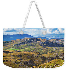 Weekender Tote Bag featuring the photograph Undulating Landscape In Kerry In Ireland by Semmick Photo