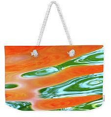 Undulating Orange Green Weekender Tote Bag