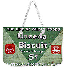 Uneeda Biscuit Vintage Sign Weekender Tote Bag