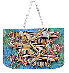 Unending A Malachite Gothic Of Non-conventional Copulating Locusts Weekender Tote Bag