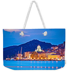 Unesco Town Of Sibenik Blue Hour View Weekender Tote Bag by Brch Photography