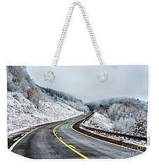 Unexpected Autumn Snow Highway Weekender Tote Bag