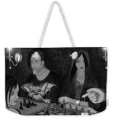 Unexpected Company - Black And White Fantasy Art Weekender Tote Bag