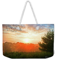 Weekender Tote Bag featuring the photograph Unfailing Love by Kerri Farley
