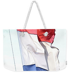 Weekender Tote Bag featuring the photograph Unfurl 02 by Stephen Mitchell