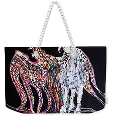 Unicorn And Phoenix Merge Paths Weekender Tote Bag