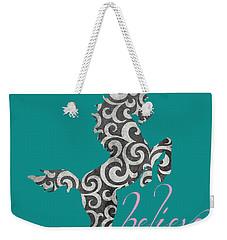 Unicorn Believe  Weekender Tote Bag by Brandi Fitzgerald