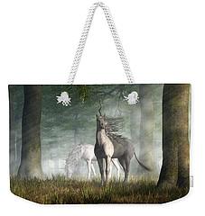 Unicorn Weekender Tote Bag by Daniel Eskridge
