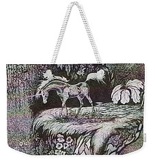 Unicorn Weekender Tote Bag by Loxi Sibley