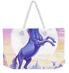 Unicorn Moon Ravens Weekender Tote Bag by Steve Crisp