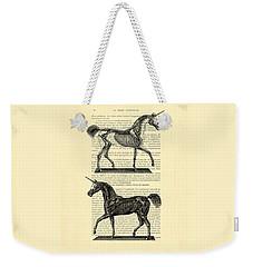 Unicorns Anatomy Weekender Tote Bag by Madame Memento
