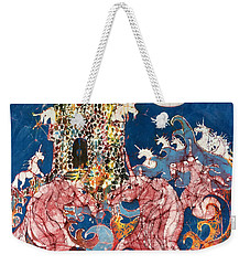 Unicorns Take Castle Weekender Tote Bag
