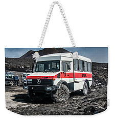 Unimog On Mt. Etna Weekender Tote Bag
