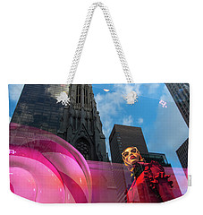 Weekender Tote Bag featuring the photograph Unimpressed In New York by Alex Lapidus
