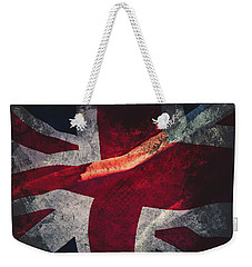 Union Jack Fine Art, Abstract Vision Of Great Britain Flag Weekender Tote Bag