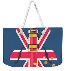 Union Jack Guitar - Original Blue Weekender Tote Bag