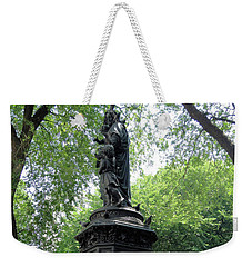 Weekender Tote Bag featuring the photograph Union Square Park Water Fountain by Iowan Stone-Flowers