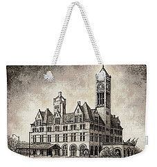 Union Station Mixed Media Weekender Tote Bag