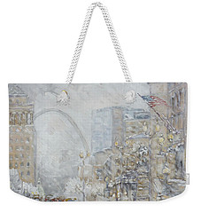 Union Station, St.louis - Winter Storm Weekender Tote Bag