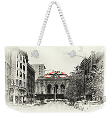 Weekender Tote Bag featuring the photograph Union Station  by Susan Rissi Tregoning