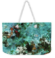 Weekender Tote Bag featuring the painting Unique Abstract Art / Landscape Painting by Ayse Deniz
