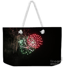 Weekender Tote Bag featuring the photograph Unique Firework by Yumi Johnson