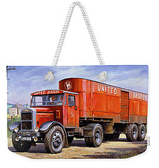 United Dairies Scammell. Weekender Tote Bag