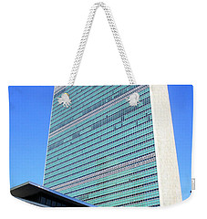 Weekender Tote Bag featuring the photograph United Nations 1 by Randall Weidner
