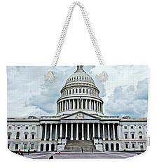 Weekender Tote Bag featuring the photograph United States Capitol by Suzanne Stout
