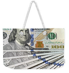 United States Usd 100 Note Closeup Weekender Tote Bag