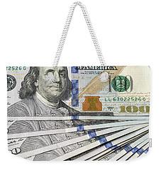 United States Usd 100 Note Closeup Weekender Tote Bag