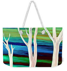 Weekender Tote Bag featuring the photograph United Trees by Munir Alawi
