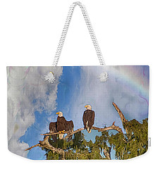 Weekender Tote Bag featuring the photograph United Under God's Promise by Judy Hall-Folde