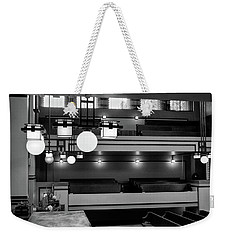 Unity Temple Interior Black And White Weekender Tote Bag
