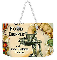 Universal Food Chopper 1897 Weekender Tote Bag