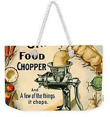 Universal Food Chopper 1897 Weekender Tote Bag by Padre Art