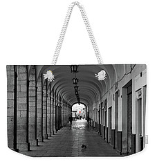 Weekender Tote Bag featuring the photograph Universal Sign by David Chandler