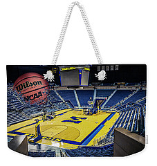 University Of Michigan Basketball Weekender Tote Bag by Nicholas Grunas