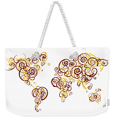 University Of Minnesota Twin Cities Colors Swirl Map Of The Worl Weekender Tote Bag