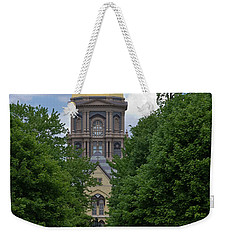 University Of Notre Dame Golden Dome Weekender Tote Bag